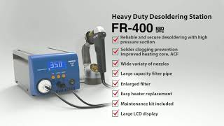 HAKKO FR-400; the super power of 300 watts ! (nozzle quick change type)