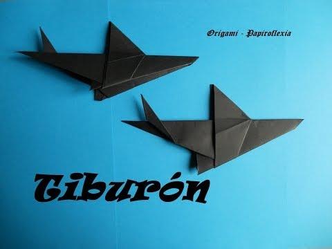 Origami - Papiroflexia. Tiburón, fácil y rápido