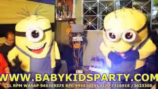 getlinkyoutube.com-Show  Infantil de los Minions BABY KIDS PARTY