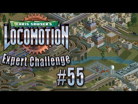 Chris Sawyer's Locomotion: Expert Challenge - Ep. 55: BRAND SPANKING NEW TRAMS