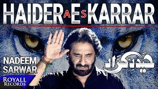 Nadeem Sarwar   Haider E Karrar   2018 / 1440