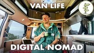 getlinkyoutube.com-Film Producer Living & Working in a Camper Van Full Time - Van Life Travel