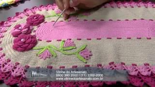 getlinkyoutube.com-Mulher.com 03/07/2014 - Jogo Americano Croche Vitrine por Maria Jose - Parte 2