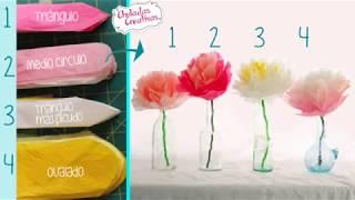 getlinkyoutube.com-Chuladas Creativas ::Flores Primaverales Parte 2 :: Flores de Papel Manualidades