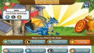 getlinkyoutube.com-Dragon City: Zodiac Gemini Dragon Battle & Skills