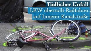 Köln: Innere Kanalstraße Kreuzung Subbelrather Straße: Unfall zwischen Radfahrer und LKW