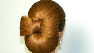 getlinkyoutube.com-Hair bow tutorial. Hairstyle for long hair