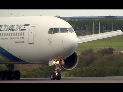 EL AL Boeing 767-200ER Takeoff in Super Fine HD