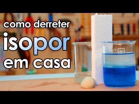Como derreter isopor em casa (experimento de Química)