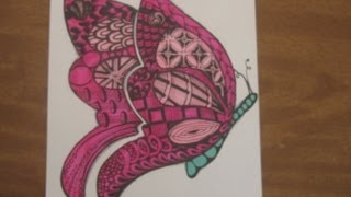 getlinkyoutube.com-Butterfly Zentangle