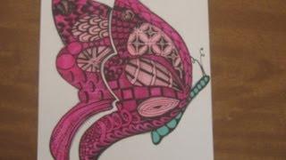 getlinkyoutube.com-Butterfly Zentangle