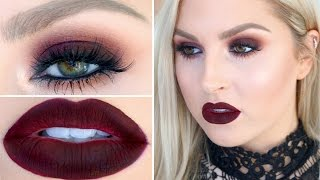 Seductive Burgundy Eye & Lip Makeup! Get Ready With Me