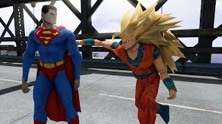 getlinkyoutube.com-SUPERMAN VS GOKU - GREAT BATTLE - GTA IV