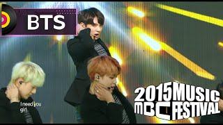 getlinkyoutube.com-[2015 MBC Music festival] 2015 MBC 가요대제전 - BTS - I Need U + RUN, 방탄소년단 - I Need U + RUN 20151231