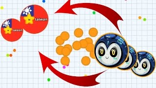 Agar.io New Trick Funny Trolling Solo Dominating Agario Mobile Best Moments!