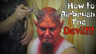 getlinkyoutube.com-Face painting Devil with Airbrush...