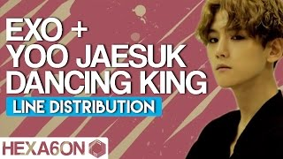 Yoo Jaesuk  x EXO - Dancing King Line Distribution (Color Coded)