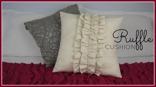 getlinkyoutube.com-{Step-by-Step Sewing} DIY Ruffle Cushion Cover