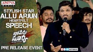 Stylish Star Allu Arjun Heartfelt Speech @  Naa Peru Surya Na Illu India Pre Release Event