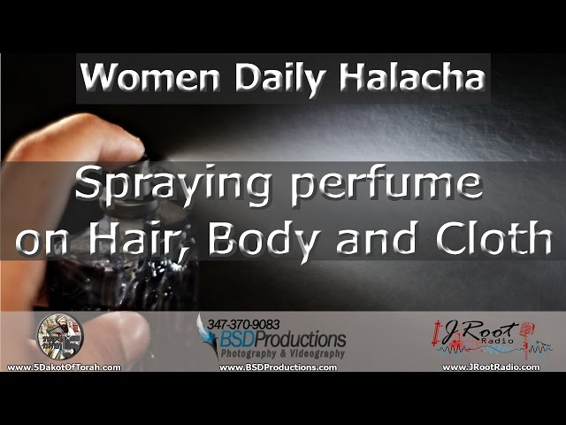Spraying perfume on Hair Body and Cloth