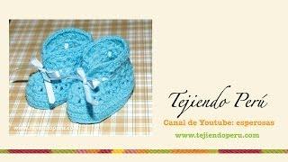 getlinkyoutube.com-Zapatitos calados tejidos a crochet para bebés