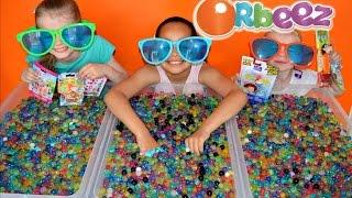 getlinkyoutube.com-ORBEEZ Challenge #4 | ICE BUCKET CHALLENGE | Disney Wikkeez |Shopkins | Blind Bags Prizes