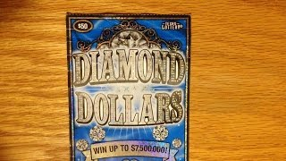 getlinkyoutube.com-1X $50 Diamond Dollars - Texas Lottery Scratch Off