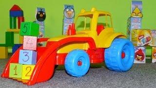 getlinkyoutube.com-Мультфильмы про машинки: Трактор и Кубики с Цифрами.