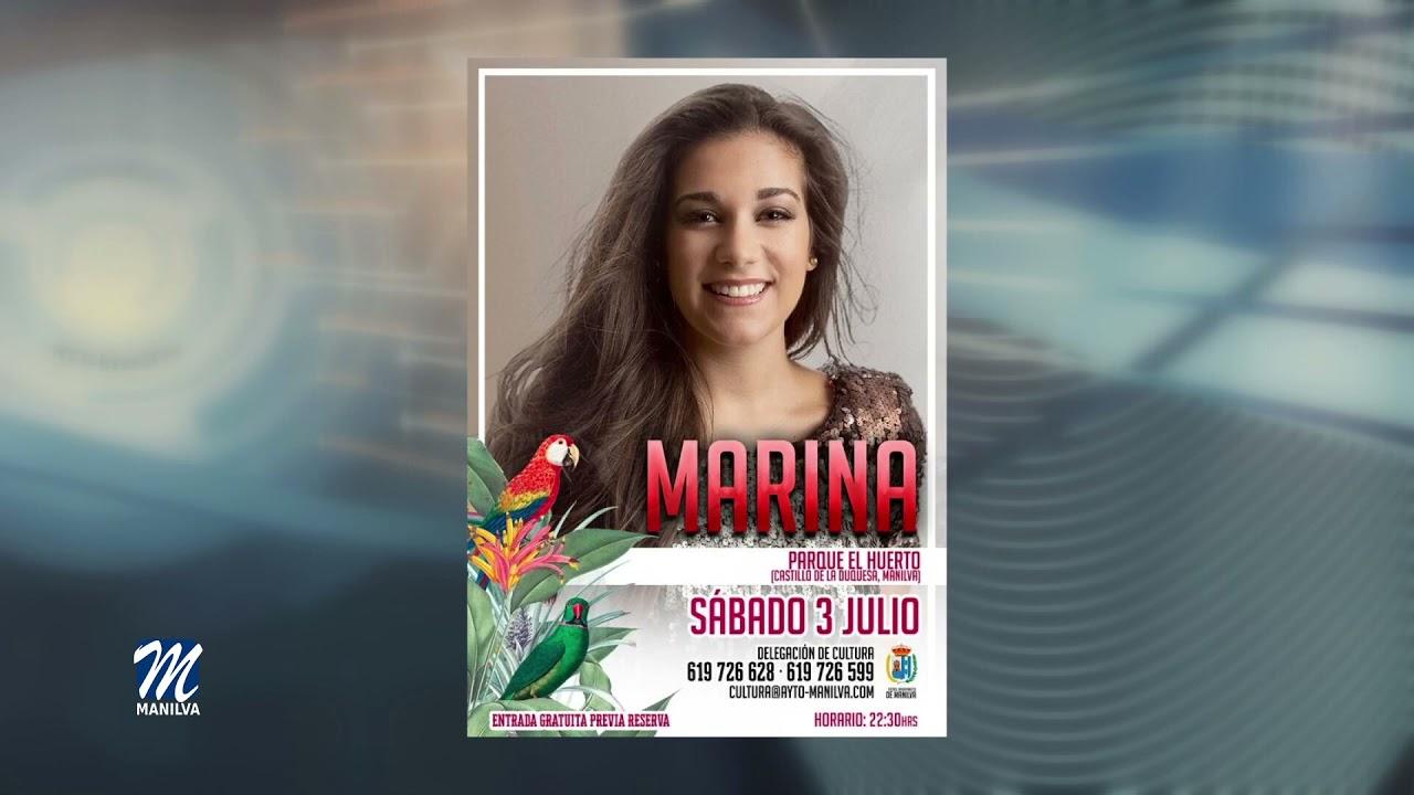 Mañana Sábado actúa la Cantante Marina en El Castillo