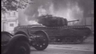 getlinkyoutube.com-german SS tiger tank ace vs churchill in france WW2, Michael Wittmann