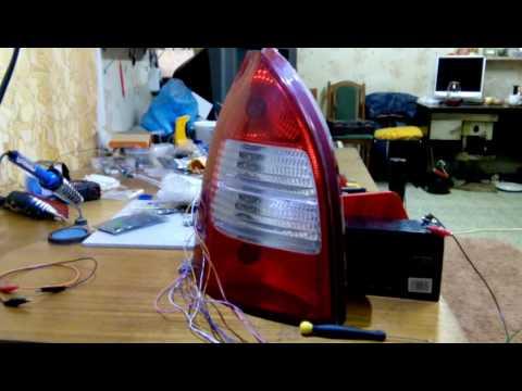 Замена ламп накаливания на светодиоды в заднем фонаре лада калина универсал