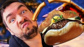 getlinkyoutube.com-I'M A BURGER! | Facerig #1
