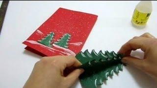 getlinkyoutube.com-Christmas Cards Pop Up Card - How To Make a Pop Up Xmas Tree Card
