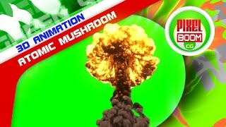getlinkyoutube.com-Green Screen Bomb Explosion Atomic Mushroom - Footage PixelBoom CG