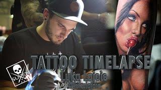 getlinkyoutube.com-Tattoo Time Lapse - Luka Lajoie