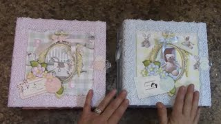 getlinkyoutube.com-PART 3 TUTORIAL 8 X 8 BABY ALBUM BOY OR GIRL DESIGNS BY SHELLIE