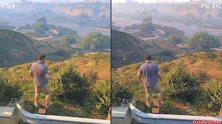 getlinkyoutube.com-GTA 5 Pc 4K Vs PS4 Graphics Comparison