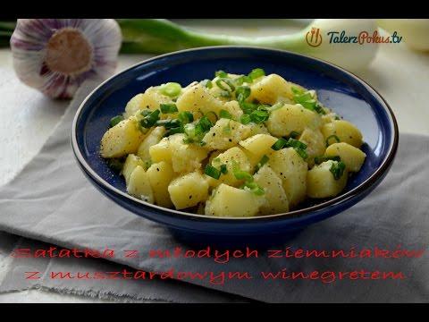 Sałatka z młodych ziemniaków z musztardowym winegretem