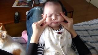 getlinkyoutube.com-赤ちゃんマジでキレる!怒!(世界一かわいい仏頂面) Angry Baby!!!生後3ヶ月 Baby is in a bad temper