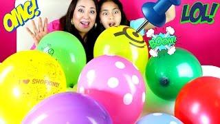 getlinkyoutube.com-Balloons Surprise Explosion Shopkins Minions LPS Peppa Pig| B2cutecupcakes