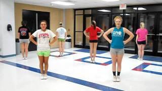 getlinkyoutube.com-2011 CGHS Cheer Clinic Routine- Shake it Up!