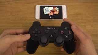 getlinkyoutube.com-GTA San Andreas iPhone 5 iOS 7 PS3 Controller Wireless Gameplay