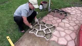 getlinkyoutube.com-ЧАСТЬ 1: Садовая дорожка (тротуарная плитка) своими руками | PART 1: Handmade garden walkway