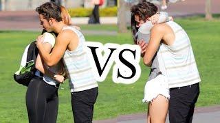 getlinkyoutube.com-Fake Hugs vs. Real Hugs! (Social Experiment)