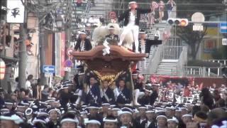 getlinkyoutube.com-平成27年 岸和田祭り 宵宮 曳きだし ~静から動へ~