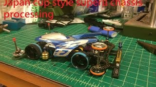 getlinkyoutube.com-Tamiya Mini 4wd Japan Cup style Super II chassis build up full processing 1/2