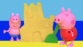 getlinkyoutube.com-Peppa Pig 2015 New Toys English Episodes - Peppa Pig Swimming on Holiday at the Beach! HD Video!