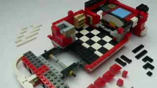 getlinkyoutube.com-LEGO 10220 Volkswagen Camper VW BUS T1 stop motion Aufbau built