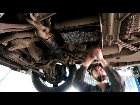 Замена масла в коробке Mercedes GL, нет заливной пробки