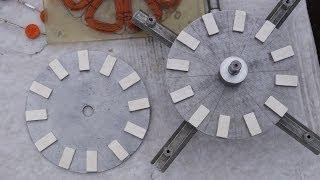 getlinkyoutube.com-24 магнита на 2 дисках. Самодельный генератор ветряка. Сборка. От руки ТЕСТ 10